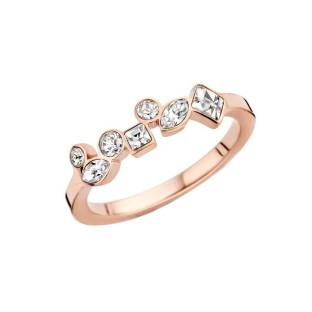 Melano Friends ring mosaic crystal rose gold