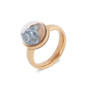 Melano Globe ring rose gold