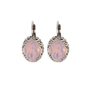 Biba oorbellen 8551 rose water opal