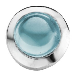 Enchanted round cabochon aqua