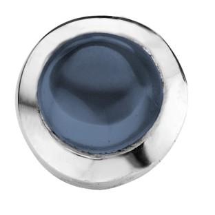 round cabochon dark blue