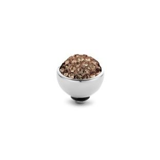 Melano Twisted zetting shiny stone smoked topaz 6 mm