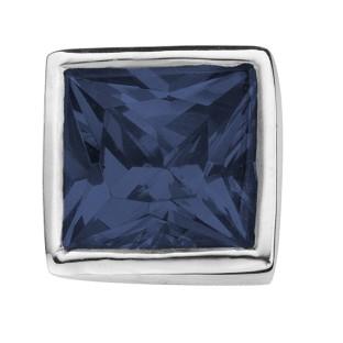 Enchanted square zirkonia dark blue