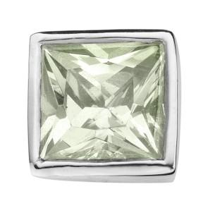 Enchanted square zirkonia light green