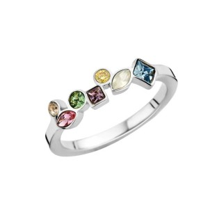 melano friends ring mosaic colour stainless steel
