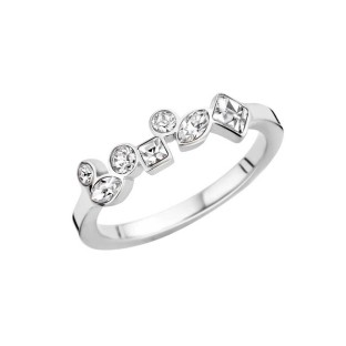 Melano Friends ring mosaic crystal stainless steel