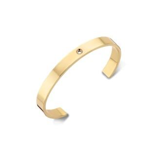 Melano Twisted armband wide gold