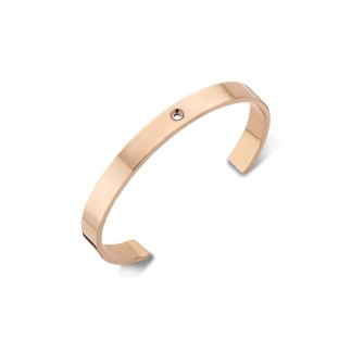 Melano Twisted armband wide rose gold