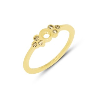 Melano Twisted ring Thera champagne gold