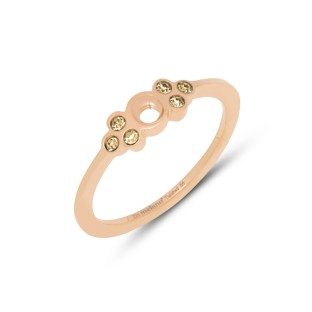 Melano Twisted ring Thera champagne rose gold