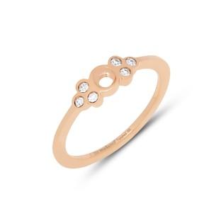 Melano Twisted ring Thera crystal rose gold