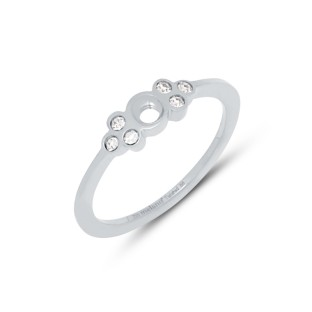 Melano Twisted ring Thera crystal stainless steel