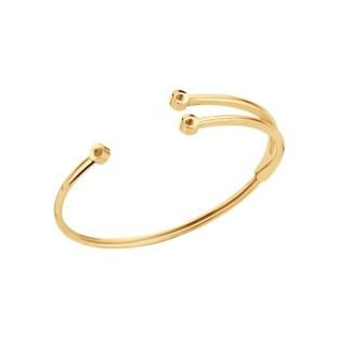 Melano Twisted armband Trio gold