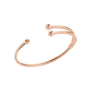 Melano Twisted armband Trio rose gold