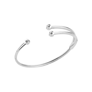 Melano Twisted armband Trio stainless steel
