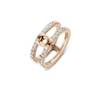 Melano Twisted ring Trista CZ rose gold