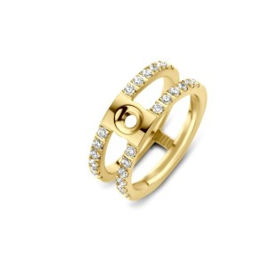 Melano Twisted ring Trista CZ gold