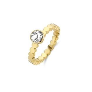 Melano Twisted ring wave gold