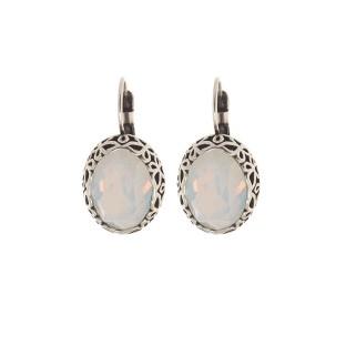 Biba oorbellen 8551 white opal