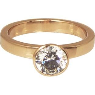 Charmins round diamond rose gold XL72