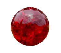 Flow glas cracked dark red
