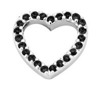 Enchanted elements heart zirkonia 14 mm black