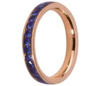 Melano Stainless Steel aanschuifring rose gold sapphire