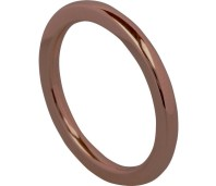 Charmins Complement aanschuifring round choco OHR45