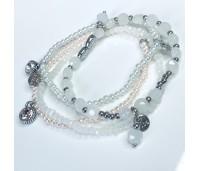 Biba armbanden set 21 pearl white