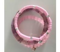Biba armbanden set 28 clay pink mix