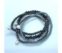 Biba armbanden set 8 grey blue