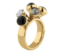 Melano Twisted ring Tess gold