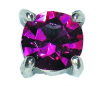 Charmins oorstekers zilver E25 princess diamond violet