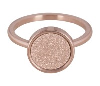 Charmins steel ring sanded circle rose gold R382