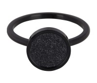 Charmins steel ring sanded circle black R383