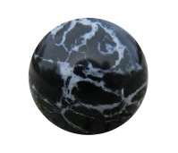 Flow LTC edelsteen black marble howlite