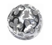 Melano Cateye silver stone balletje opengewerkt