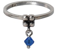 Charmins dangling diamond saphire 100