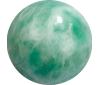 Melano Cateye semi precious stone balletje china amazonite