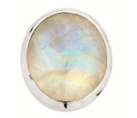 Enchanted oval natural stones blue moonstone facet