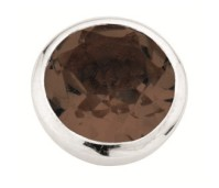 Enchanted round natural stones smoky quartz facet