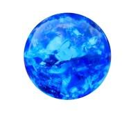 Flow glas cracked blue