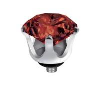 Melano Twisted zetting crown dark red