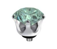 Melano Twisted zetting crown turquoise