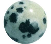 Melano Cateye semi precious stone balletje dalmatian jasper