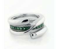 Melano zilveren ring dubbele loop