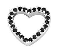 Enchanted elements heart zirkonia 14 mm black