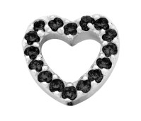 Enchanted bracelet elements heart zirkonia 9 mm black