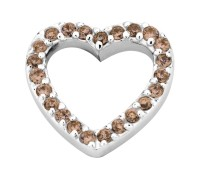 Enchanted elements heart zirkonia 14 mm brown
