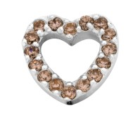 Enchanted bracelet elements heart zirkonia 9 mm brown